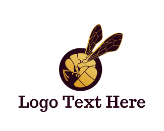Wasp - Golden Wasp logo design