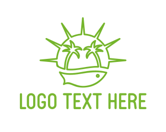 Green Island logo design