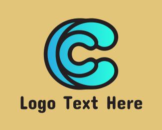 Cyan - Water Spash C logo design