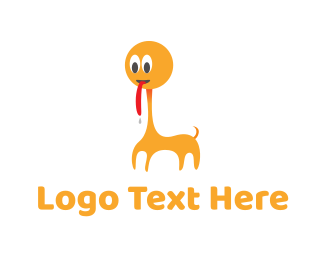 Safari - Orange Animal Cartoon logo design
