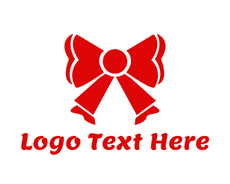 Bow - Red Ribbon logo design