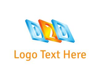 Alphabet - D & 2 logo design