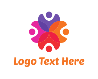 Recruiter - Human Flower logo design
