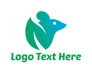 Rat - Green Mouse logo design