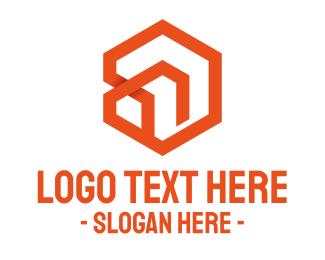 Subdivision - Hexagon Abstract House logo design