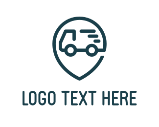 Delivery Service - Truck Point logo design