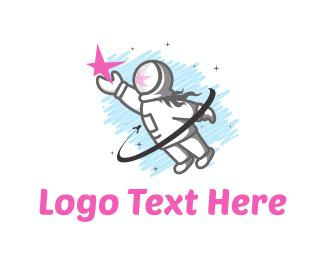 Female - Astronaut Girl logo design