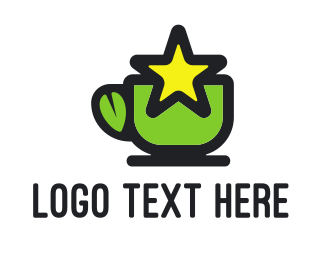 Herbal Tea - Star Green Tea logo design