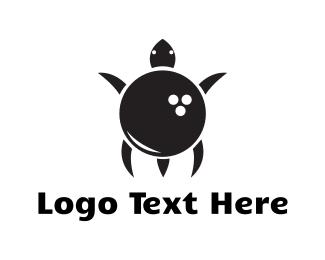 Turtle - Bowling Turtle  logo design