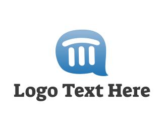 Government - Pillar Chat logo design
