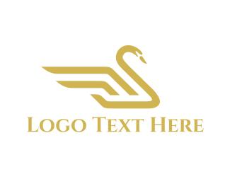 Goose - Royal Swan logo design