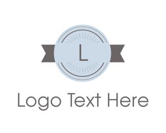Lettermark - Retro Stamp Lettermark logo design