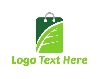 Retail - Green Shopping logo design