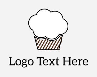 Rain - Cloud Muffin logo design