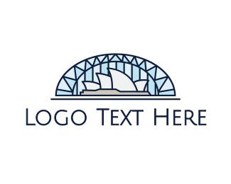 Landmark - Sydney Opera House logo design