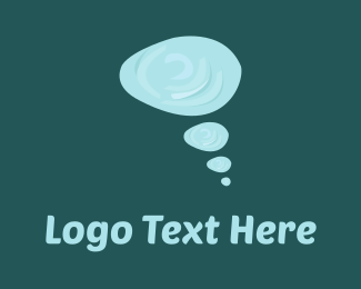 Talk - Thinking Bubbles logo design