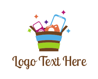 Mobile - Gadget Basket  logo design