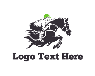 Sports Betting - Equestrian Rider logo design