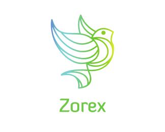 Gradient Gradient Bird logo design