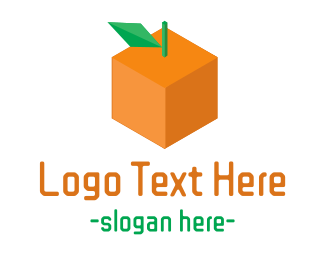 Fabrication - Orange Cube logo design