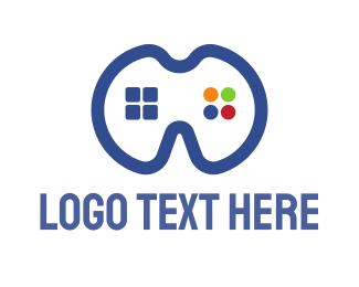 Video - Blue Gamers Pad logo design