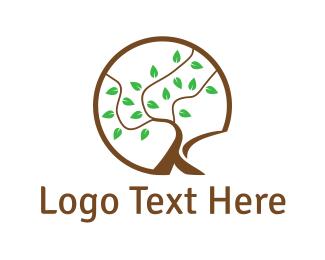 Branch - Tree Letter K logo design