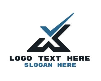 Verification - Tech Check X logo design