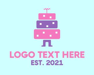 Cake - Building Character logo design