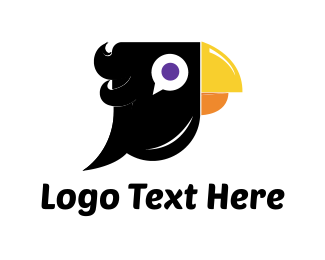 Raven - Black Parrot logo design