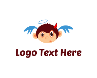 Monkey - Angel & Devil Monkey logo design