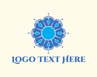 Mandala - Blue Mandala logo design