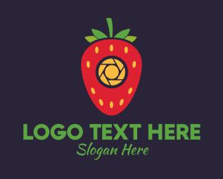 Photography - Strawberry Camera logo design