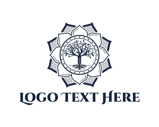 Lotus and Tree Logo