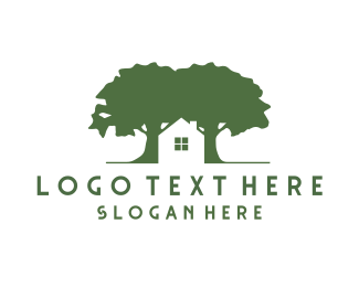 Realtor - House & Trees logo design