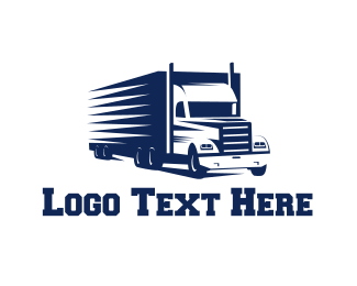 Trucking Company - Blue Truck logo design
