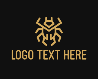 Secure - Gold Bug logo design