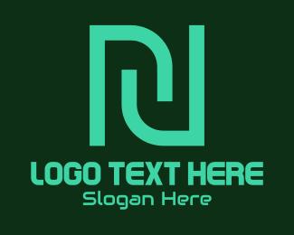 Letter N - Modern N logo design