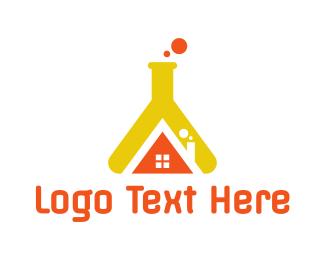 Flask - Flask House logo design