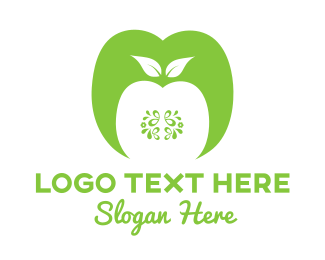 Fresh - Green Apple logo design