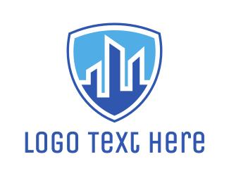 Police - Blue City Shield logo design