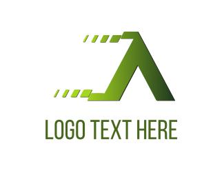 Speed - Fast Letter A logo design