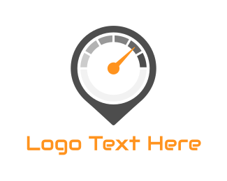 Speedometer - Speed Track logo design