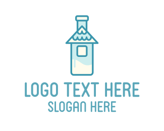 Milk - Milk Bottle House logo design