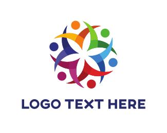 Flower - Flower Team logo design