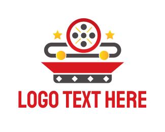 Theater - Movie Reel logo design