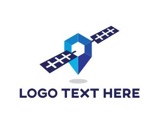 Satellite - Blue Satellite logo design