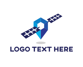 Gps - Blue Satellite logo design