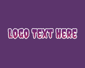 Horror - Purple Horror Font logo design