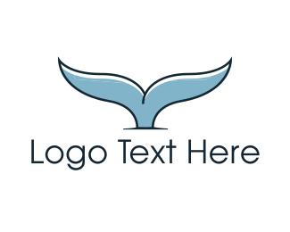 Mermaid - Whale Tail logo design
