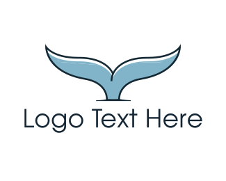 Fin - Whale Tail logo design